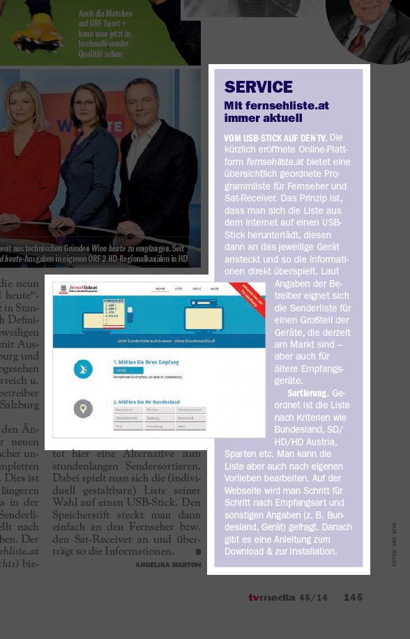 tv media, Nr. 45 (1.-7.11.2014)